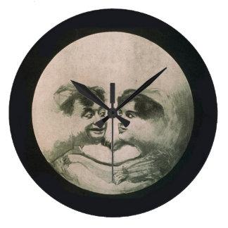 Moon Optical Illusion - So Fun Large Clock