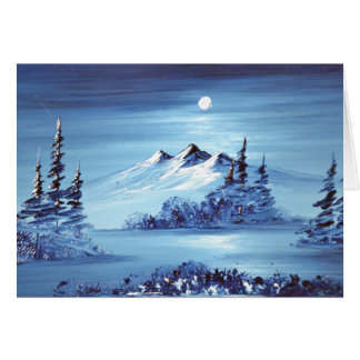 Moon over Blue Mountain Note Card