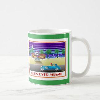 Moon Over Miami Green Coffee Mug