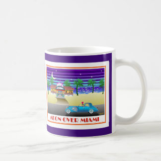 Moon Over Miami Indigo Coffee Mug