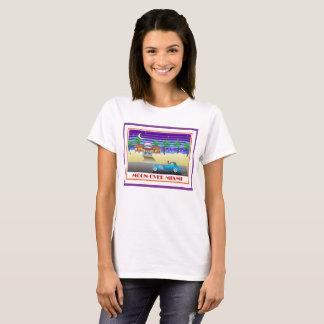 Moon Over Miami Purple T-Shirt
