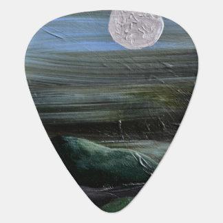 Moon Over Mountain Guitar Pick