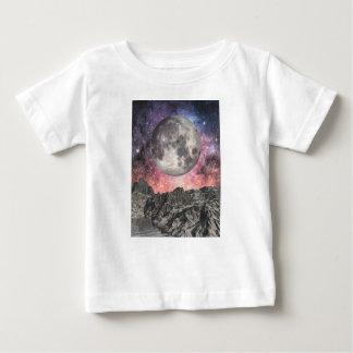 Moon Over Mountain Lake Baby T-Shirt