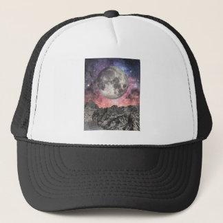 Moon Over Mountain Lake Trucker Hat