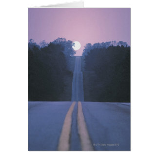 Moon Over Open Road Card