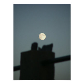 moon over rocky nook kingston ma poster