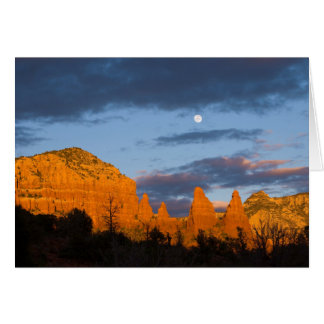 Moon Over Sedona Greeting Card 2226