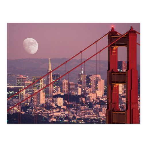 Moon Over the Gate Post Card