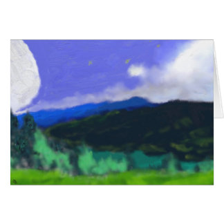 Moon Over the Land 2 Art Card