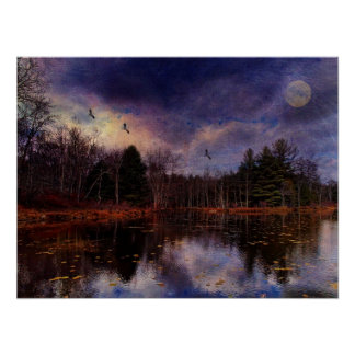Moon Over the Marsh Poster