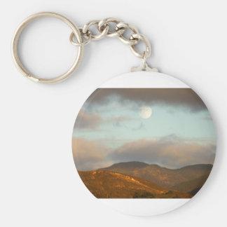 Moon over Vineyards Basic Round Button Keychain