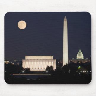 Moon over Washington DC Mouse Pad