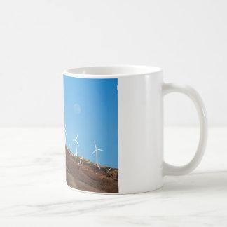 Moon over Windmills Coffee Mug