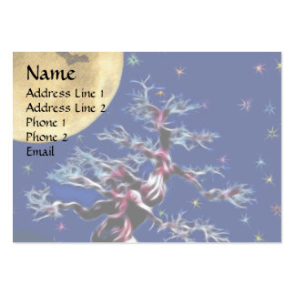 Moon Over Witch Tree Large Business Card