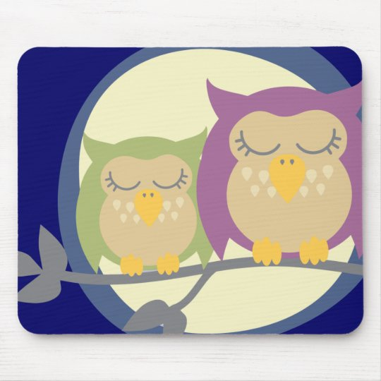 Moon Owls Mouse Mat
