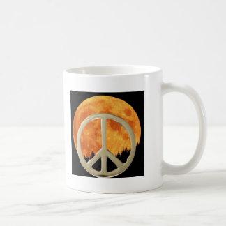 MOON PEACE CLASSIC WHITE COFFEE MUG