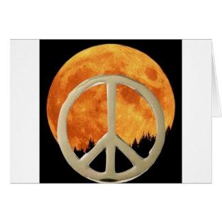 MOON PEACE GREETING CARD