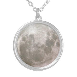 Moon Pendulum Silver Plated Necklace