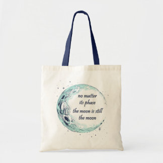 Moon Phase Motivational Astronomy Tote Bag