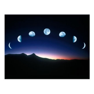 Moon Phases Postcard