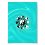Moon Phases, Sun & Yin Yang - Polarity & Duality Photographic Print
