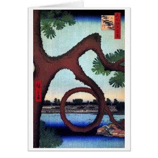 Moon Pine Ueno, Hiroshige Card