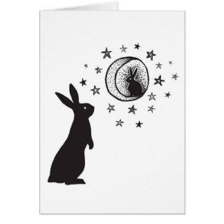 Moon Rabbit - blank greeting card