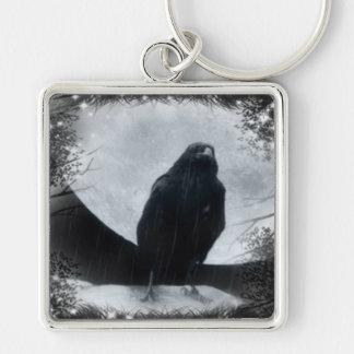 Moon Raven Keychain