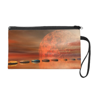 moon red and steps wristlet