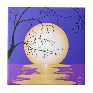 Moon Reflection Ceramic Tile