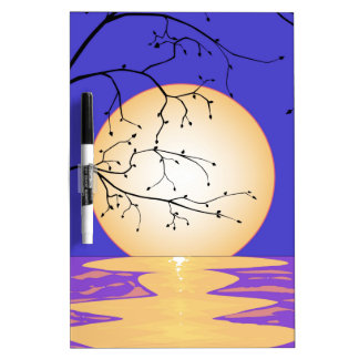 Moon Reflection Dry Erase Boards