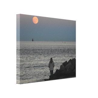 Moon Rise -- Canvas Art Print