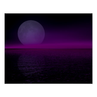 Moon Rise Pink Haze Flipped Poster