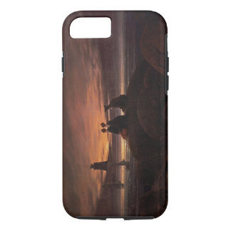 Moon Rising Over the Sea, 1822 (oil on canvas) iPhone 7 Case
