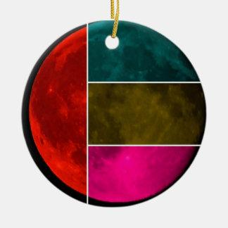 Moon Round Ceramic Ornament