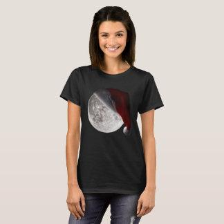 Moon Santa Hat Christmas eve holiday Merry X-mas T-Shirt
