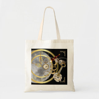Moon sets the Time Budget Tote Bag