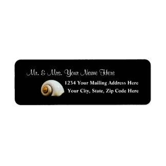 Moon Shell Address Label