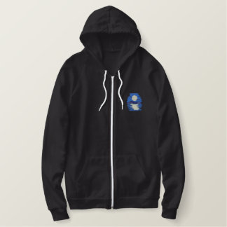 Moon Shining On Water Embroidered Hoodie