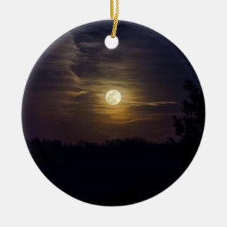 Moon Silhouette Ceramic Ornament
