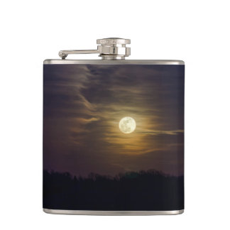 Moon Silhouette Hip Flask