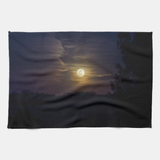 Moon Silhouette Kitchen Towel