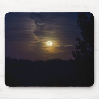 Moon Silhouette Mouse Pad