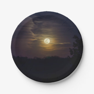 Moon Silhouette Paper Plate
