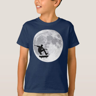 Moon skateboarding T-Shirt