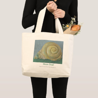 Moon Snail Large Tote Bag