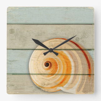 Moon Snail Square Wall Clock