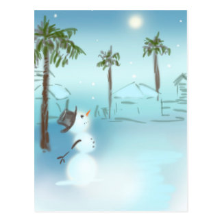 Moon Snow Postcard