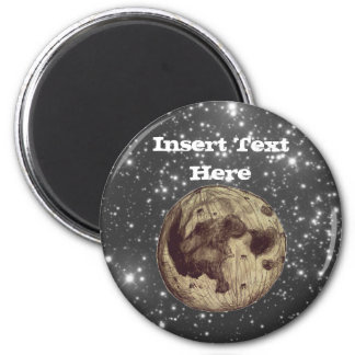 Moon Space Astronomy 2 Inch Round Magnet
