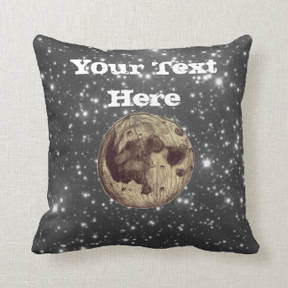 Moon Space Astronomy Throw Pillow